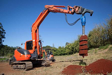 螺旋钻机挖坑机