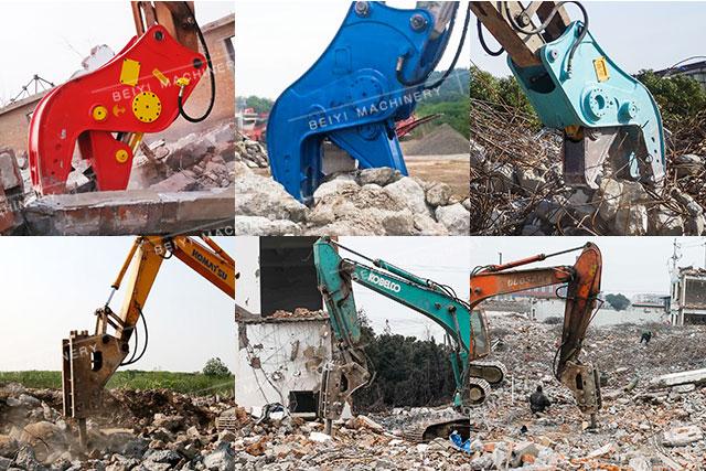拆迁专用挖机液压粉碎钳or破碎锤             液压粉碎钳具有大开口图片
