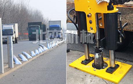 北奕机械常见的拔桩机有拔h型钢(工字钢)的 拔桩机(或称 液压拔桩机图片
