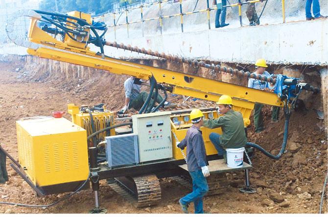 多功能全液压履带钻机-挖掘机打